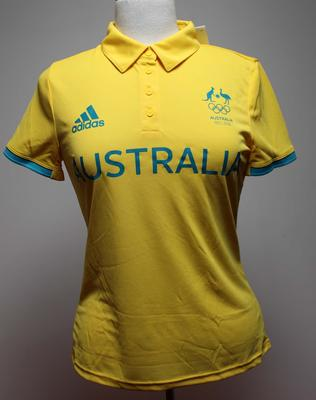 Unworn Australian Olympic Committee media shirt issued to Kitty Chiller, Rio de Janeiro Olympic Games, 2016