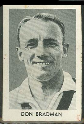 1947 Radio Fun Famous Test Cricketers Don Bradman trade card