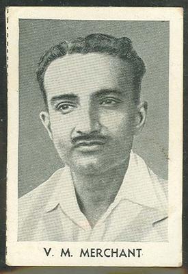1947 Radio Fun Famous Test Cricketers V M Merchant trade card