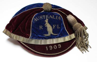 Australian Rugby Football League representative cap, 1909.
