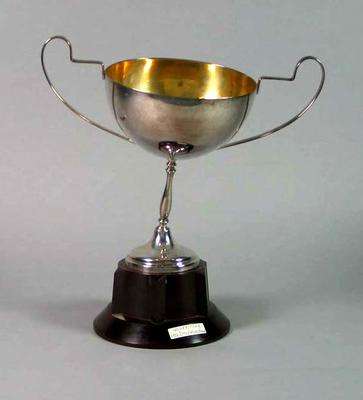 Trophy for Ulverstone 2 Mile Wheel Race 1938, won by Keith Thurgood