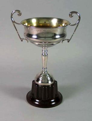 Trophy for Waikerie 2 Mile Wheel Race 1938, won by Keith Thurgood