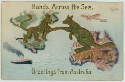 Postcards received by Albert Broomham whilst touring Great Britain with the Australasian team in 1911 and 1912