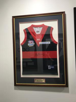 Melbourne Football Club AFL 2004  Heritage round guernsey.