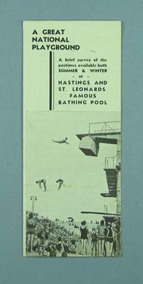 Travel brochure for Hastings & St Leonard's, c1950s