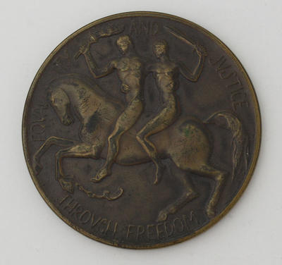 Centenary of the Government of Victoria Medal presented to Ian Johnson, 1951.