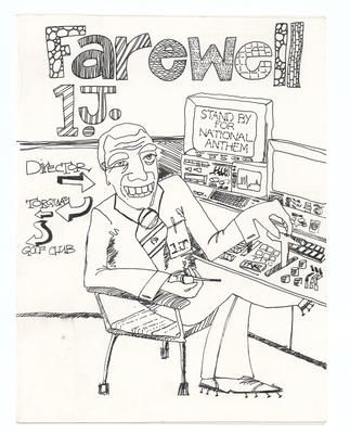 Farewell card given to Ian Johnson by the Diamond Vision crew, circa 1983.
