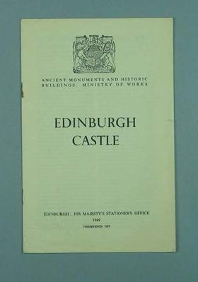Guide for tourists visiting Ediburgh Castle, c1951