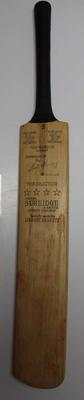 Cricket bat previously owned by Ian Johnson, undated