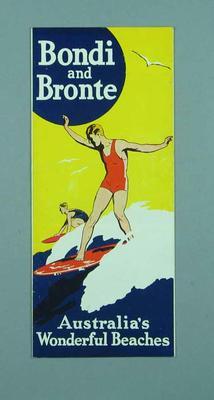 Travel brochure for Bondi and Bronte beaches, c1950s