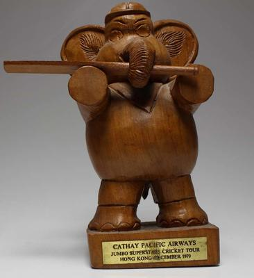 Trophy commemorating Australian Jumbo Superstars Cricket Tour, Hong Kong, 1979