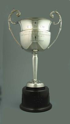 Trophy for Devonport Athletic Club 36 Lap A Grade Scratch Race 1940, won by Keith Thurgood
