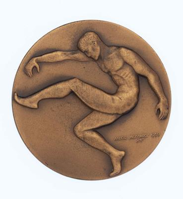 Victorian Football League Premiership Medal awarded to Malcolm Blight, 1975.