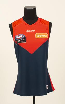 Melbourne AFLW guernsey worn Harriet Cordner, 2017