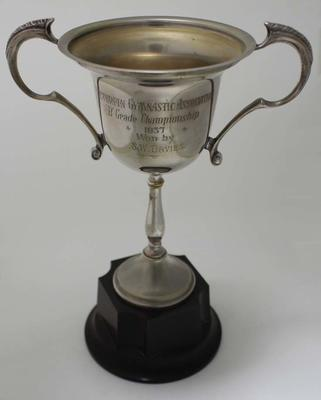 Trophy awarded to Stan Davies by the Victorian Gymnastics Association, 1937