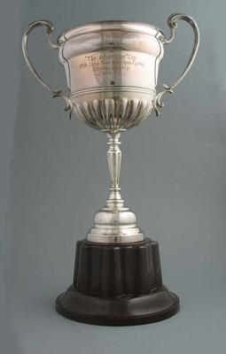 Trophy for Renmark 5 Mile Open Cycling Race 1940-41, won by Keith Thurgood
