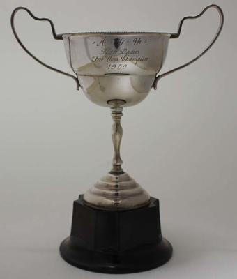 Trophy for free arm champion, awarded to Stan Davies by Australian Gymnastics Union, 1950