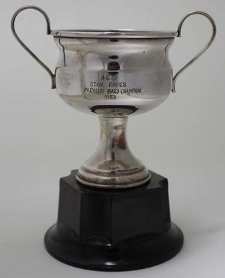 Trophy awarded to Stan Davies, parallel bars champion, by the Australian Gymnastic Union, 1953