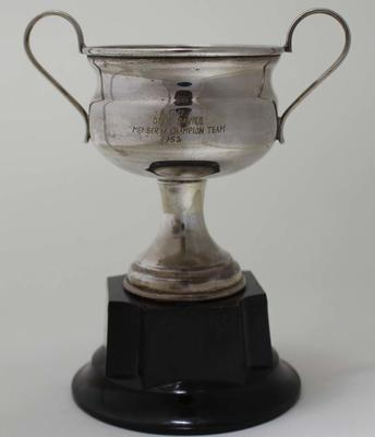Trophy for member of champion team, awarded to Stan Davies by Australian Gymnastics Union, 1953