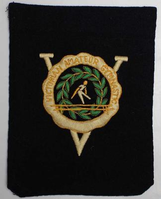 Victorian Amateur Gymnastics Association blazer pocket, owned by Stan Davies, no date.