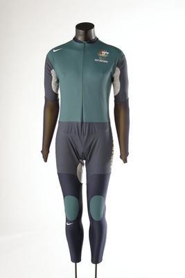 Body suit, worn by Steve Bradbury at 2002 Salt Lake City Olympic Games
