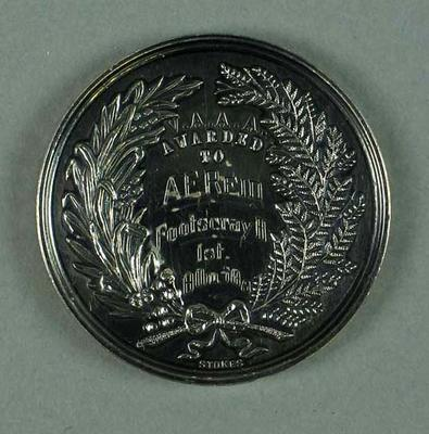 Medal - 1st Place, 10 Miles Walking Championship of Victoria 1937