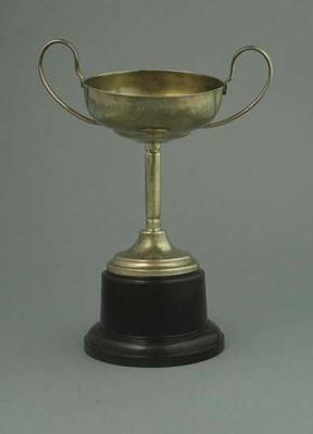 Trophy - Small silver two- handled cup associated with Ernie Milliken; Trophies and awards; 1993.2922.8