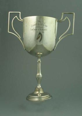 Trophy  - The Corot & Co Cup, 2nd Place Circuit of Albany 3/3/36; Trophies and awards; 1993.2922.9