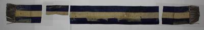 Navy blue sash with tassels, undated