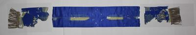 Royal blue sash with tassels, undated