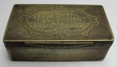 Snuff box presented to Felix William Spiers and Christopher Pond, 1863