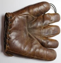 Baseball glove used by Lawrence Victor Peters, c. 1930s-50s.