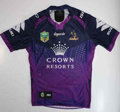 Melbourne Storm jersey number 9, worn by Cameron Smith, September 2017