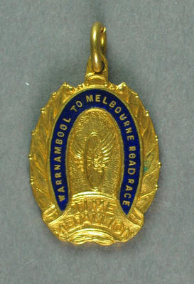 Medallion -  Warrnambool-Melbourne Road Race, Time Medallion, 1962; Trophies and awards; 1993.2895.66