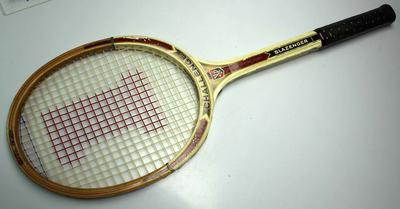 Slazenger 'Challenge' racquet used by Ken Rosewall, circa early 1970s.