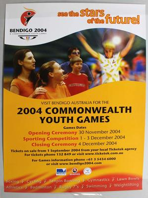 2004 Bendigo Commonwealth Youth Games promotional poster