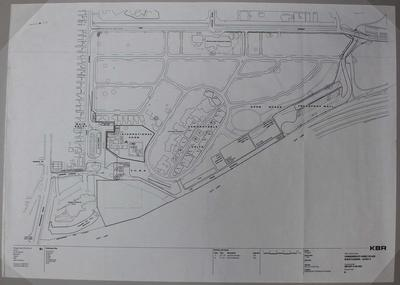 Architectural drawing for Parkville athlete's village at the 2006 Melbourne Commonwealth Games