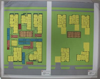 Floor plan for Parkville athlete's village at the 2006 Melbourne Commonwealth Games
