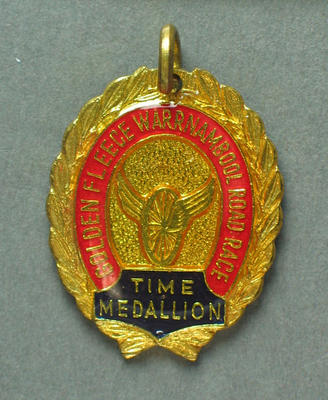 Medallion -  Golden Fleece Warrnambool  Road Race, Time Medallion, 1966; Trophies and awards; 1993.2895.69