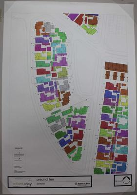 Plan for precinct 10 of Parkville athlete's village at the 2006 Melbourne Commonwealth Games