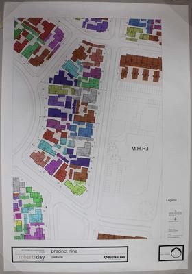 Plan for precinct 9 of Parkville athlete's village at the 2006 Melbourne Commonwealth Games