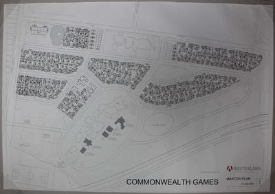 Master plan for Parkville athlete's village at the 2006 Melbourne Commonwealth Games