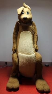 Promotional mascot suit, 'Matilda' the kangaroo, used in the lead-up to and during the 1982 Brisbane Commonwealth Games