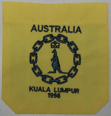 Shirt pocket issued to Nova Peris-Kneebone, Kuala Lumpur Commonwealth Games, 1998