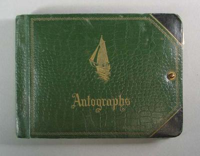 Green Autograph book compiled by Valda Unthank