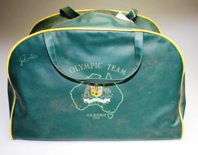 Australian Olympic team kit bag, issued to John Foster, 1956