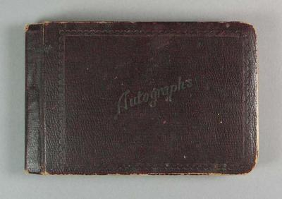 Brown Autograph book compiled by Valda Unthank