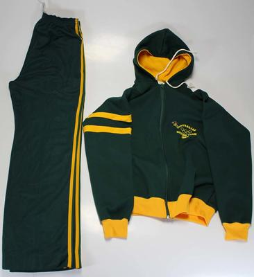 Australian rowing team tracksuit, worn by Margot Foster during the 1984 Los Angeles Olympic Games