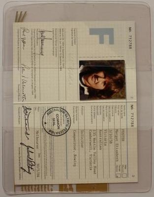 Margot Foster's identification tag, 1984 Los Angeles Olympic Games