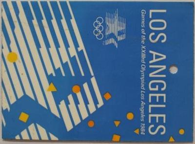 Margot Foster's luggage tag, 1984 Los Angeles Olympic Games